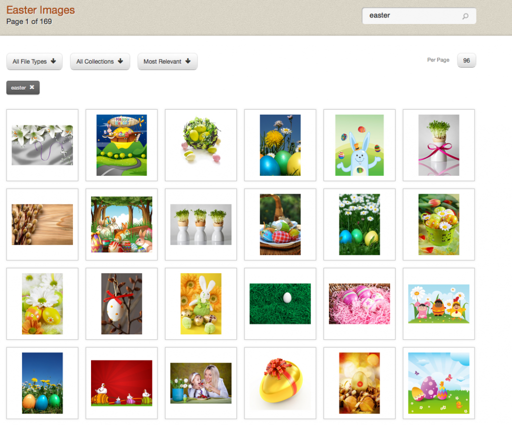 Search for Easter images on GL Stock Images