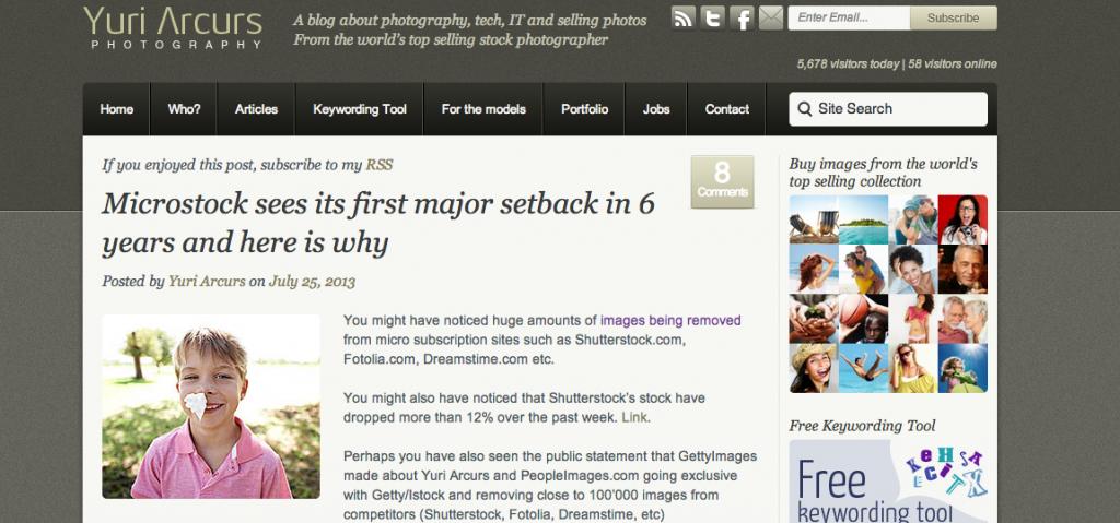 Newest blog post on arcurs.com
