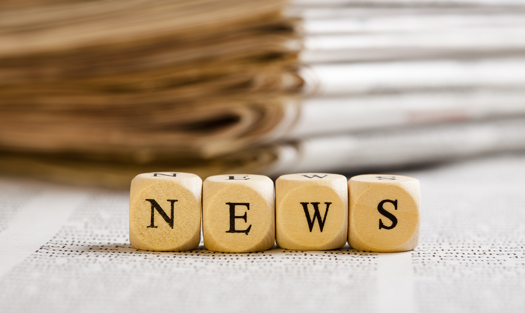 News concept with Cube Letters