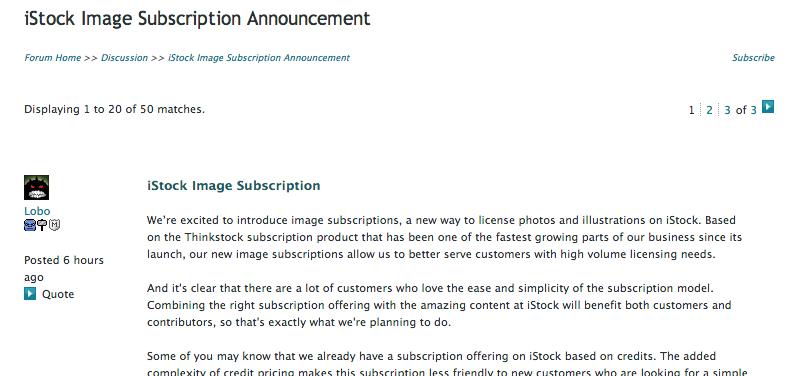 iStockphoto announces new subscription program