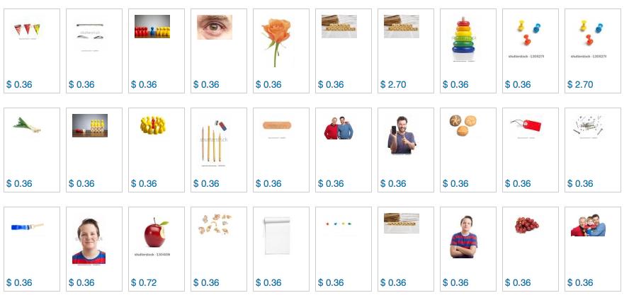Far more downloads, far lower royalites at Shutterstock