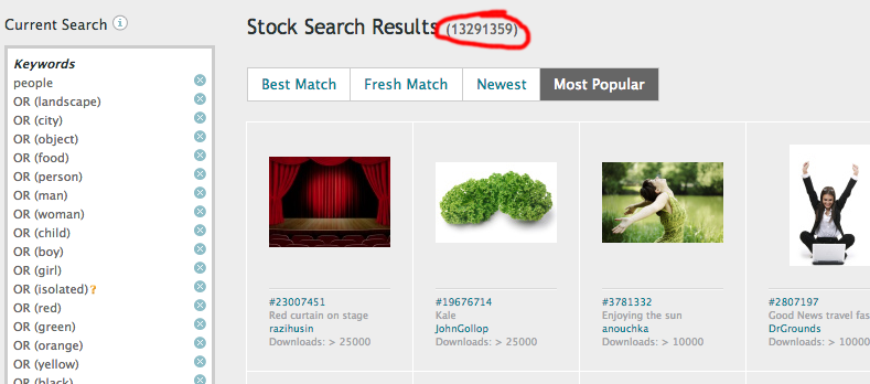 iStock Search Results with 13.3 photos