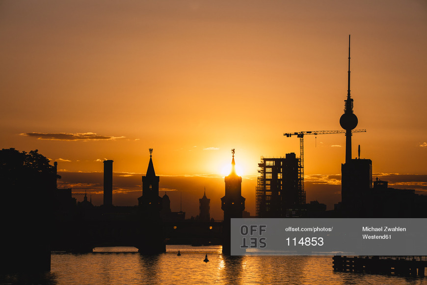 Berlin Sunset Stock Image - available at Offset through Westend61