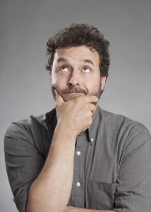 Porträt Serie Emotionen, Mann mittleren Alters, nachdenklich