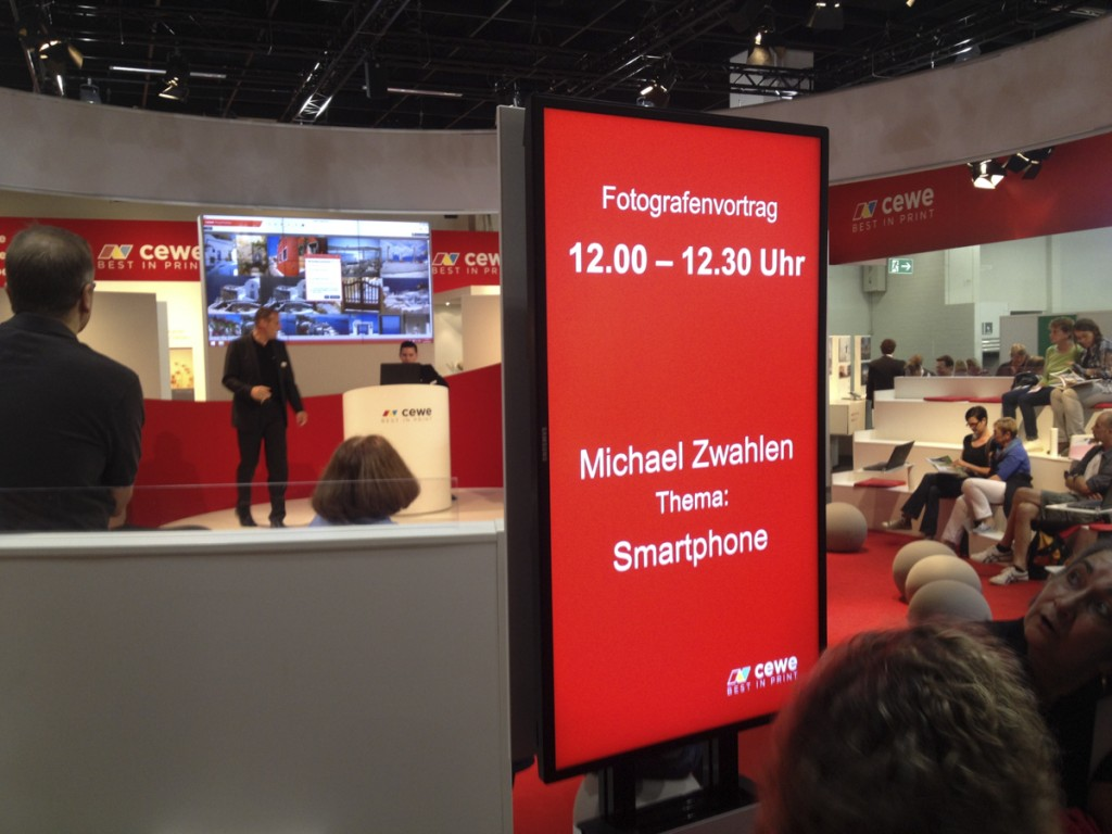 """This was """"my"""" stage for 3 x 30 minutes at the Photokina 2014 :) Thanks to CEWE for inviting me to it."""