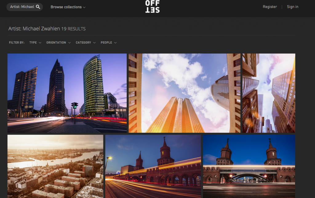 A few of my images made it to Shutterstock's premium site Offset