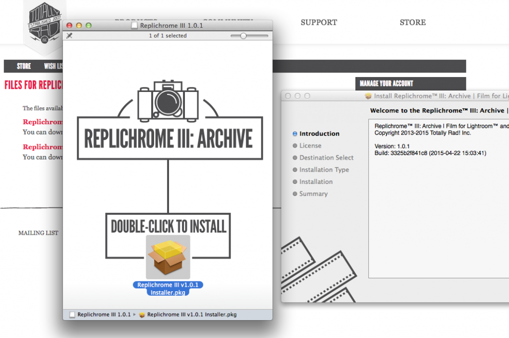 Installing Replichrome Presets is very quick and easy