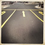 Stock Photo: Road Markings - decisions