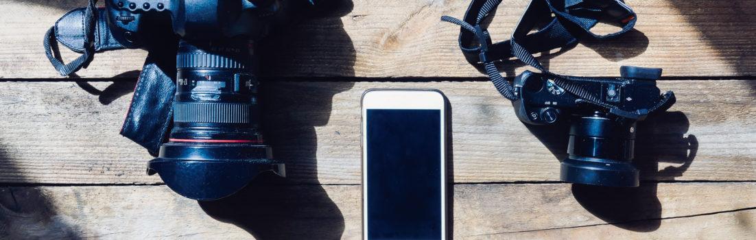 DSLR, Mirrorless and Smartphone cameras